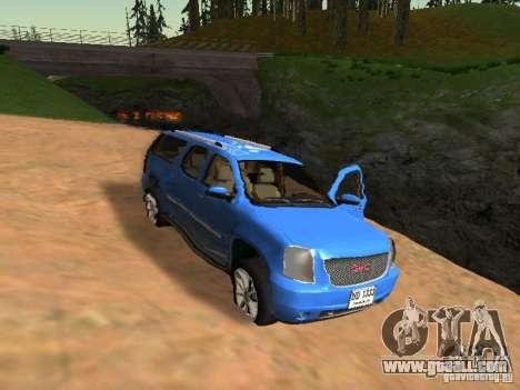 GMC Yukon Denali XL for GTA San Andreas upper view