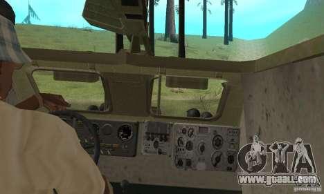 BRDM-1 Skin 2 for GTA San Andreas inner view