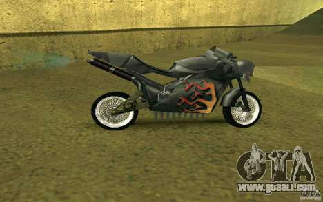 Motorcycle of the Alien City for GTA San Andreas back left view