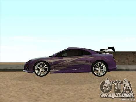 Mitsubishi Eclipse Spyder 2FAST2FURIOUS for GTA San Andreas left view