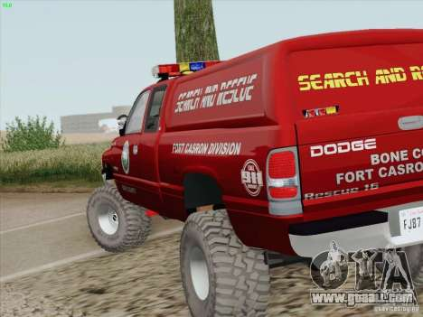 Dodge Ram 3500 Search & Rescue for GTA San Andreas upper view