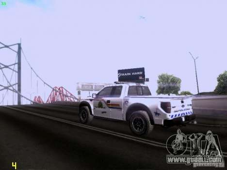 Ford Raptor Royal Canadian Mountain Police for GTA San Andreas right view