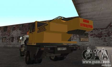 MAZ Truck Crane for GTA San Andreas back left view