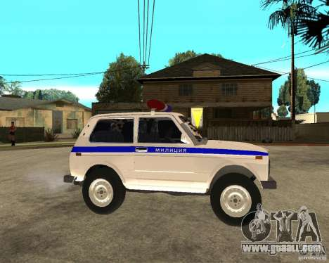 VAZ 2121 Police for GTA San Andreas right view