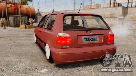Volkswagen Golf MK3 Turbo for GTA 4 back left view