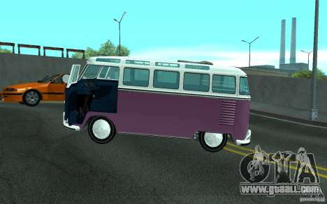 Volkswagen Transporter T1 SAMBAQ CAMPERVAN for GTA San Andreas engine