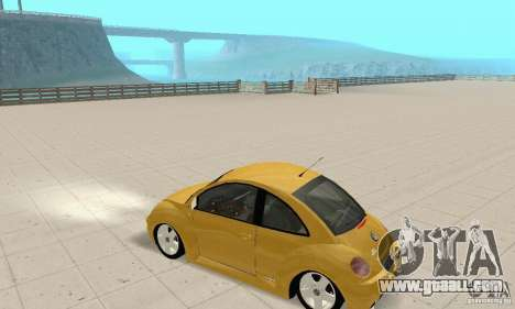 Volkswagen New Beetle GTi 1.8 Turbo for GTA San Andreas back view