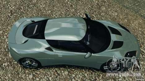 Lotus Evora 2009 v1.0 for GTA 4 right view