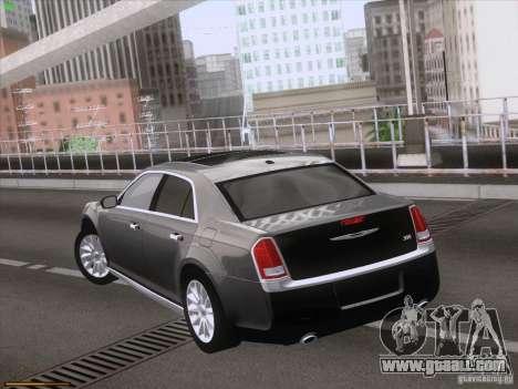 Chrysler 300 Limited 2013 for GTA San Andreas inner view