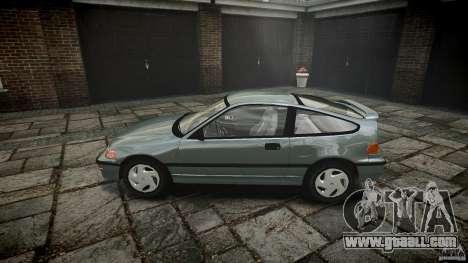 Honda CRX 1991 for GTA 4 left view