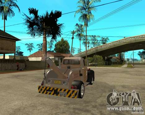 1951 Ford Wrecker for GTA San Andreas back left view