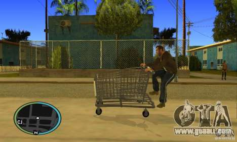 Shopping Cart Faggio V2 for GTA San Andreas right view
