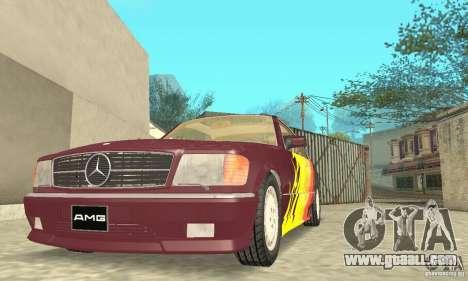 Mercedes-Benz W126 560SEC for GTA San Andreas wheels