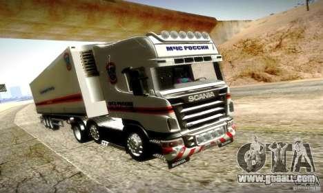 Scania R620 Emercom Of Russia for GTA San Andreas upper view