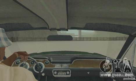 Ford Mustang Bullitt 1968 v.2 for GTA San Andreas back view