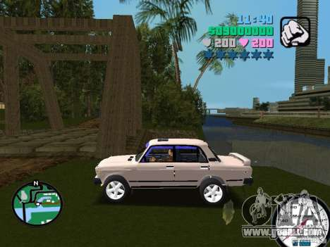 VAZ 2107 for GTA Vice City left view