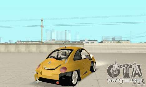 Volkswagen New Beetle GTi 1.8 Turbo for GTA San Andreas upper view