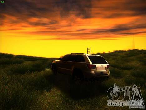 Jeep Grand Cherokee 2012 v2.0 for GTA San Andreas back left view