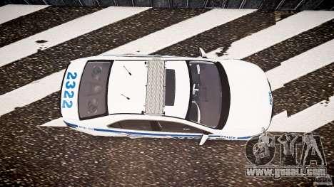 Honda Accord Type R NYPD (City Patrol 2322) ELS for GTA 4 right view