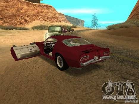 Pontiac Firebird 1970 for GTA San Andreas side view