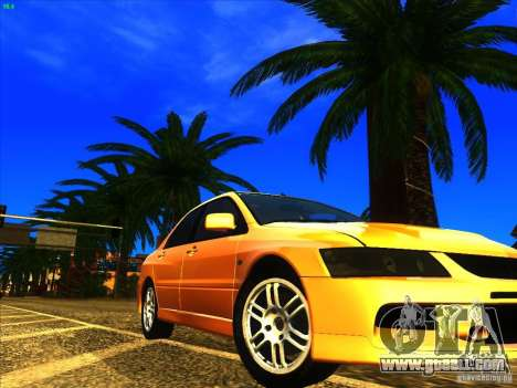 Mitsubishi Lancer Evolution IX MR for GTA San Andreas side view