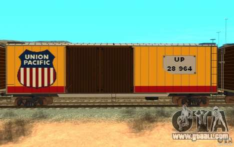 Union Pacific Reefer for GTA San Andreas back left view