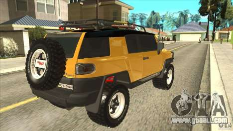Toyota FJ Cruiser for GTA San Andreas right view