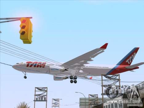 Airbus A330-223 TAM Airlines for GTA San Andreas back view