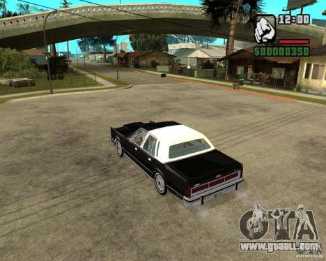 Lincoln Town Car 1986 for GTA San Andreas back left view