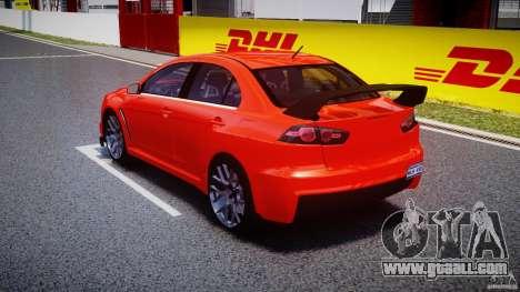 Mitsubishi Lancer Evo X 2011 for GTA 4 back left view