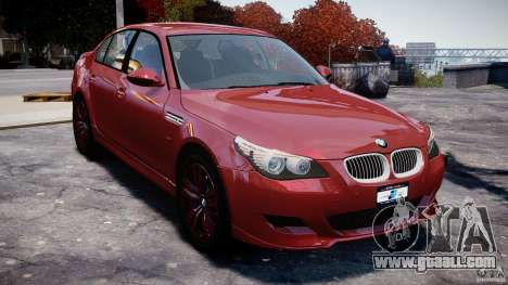 BMW M5 E60 2009 for GTA 4 right view