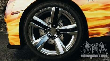Chevrolet Camaro ZL1 2012 v1.0 Flames for GTA 4 bottom view