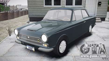 Lotus Cortina S 1963 for GTA 4 side view