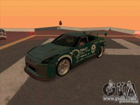 Nissan GT-R R35 rEACT for GTA San Andreas left view