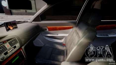 Chevrolet Evanda for GTA 4 inner view