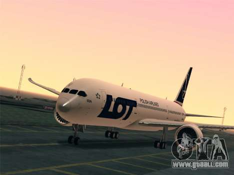 Boeing 787-9 LOT Polish Airlines for GTA San Andreas interior