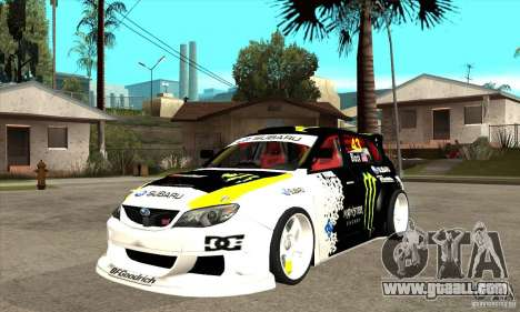 Subaru Impreza 2009 (Ken Block) for GTA San Andreas