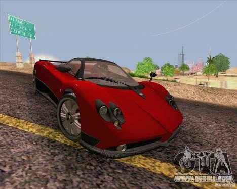 Pagani Zonda F v2 for GTA San Andreas inner view