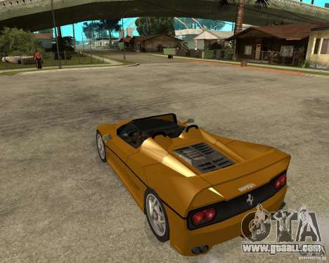 Ferrari F50 for GTA San Andreas left view