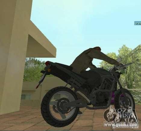 PCJ-600 in GTA IV for GTA San Andreas back left view