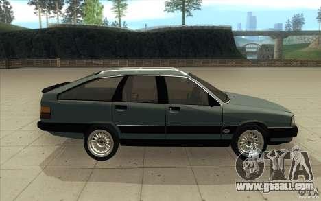 Audi 100 Avant Quattro for GTA San Andreas inner view