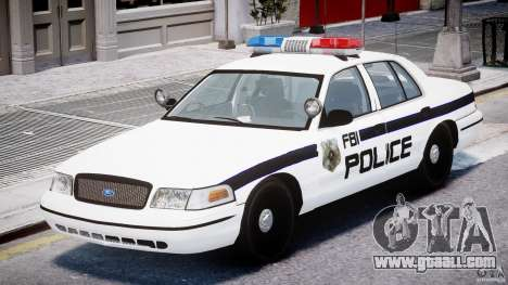 Ford Crown Victoria FBI Police 2003 for GTA 4 left view