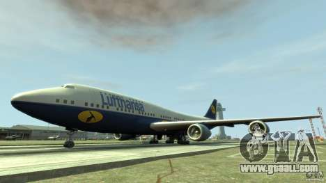 Lufthansa Airplanes for GTA 4 left view