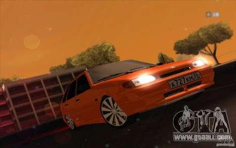 Ваз 2114 Juicy Orange for GTA San Andreas back left view