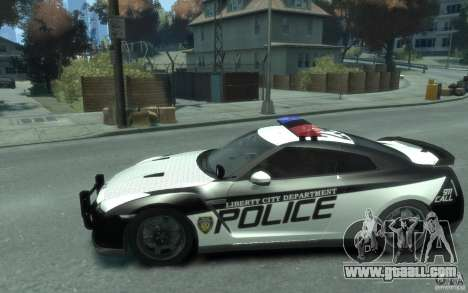 Nissan GT-R R35 Police for GTA 4 left view