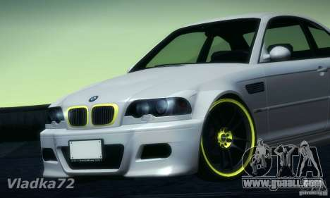 BMW M3 for GTA San Andreas back left view
