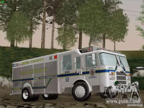 Pierce Fire Rescues. Bone County Hazmat for GTA San Andreas side view