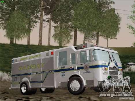 Pierce Fire Rescues. Bone County Hazmat for GTA San Andreas side view