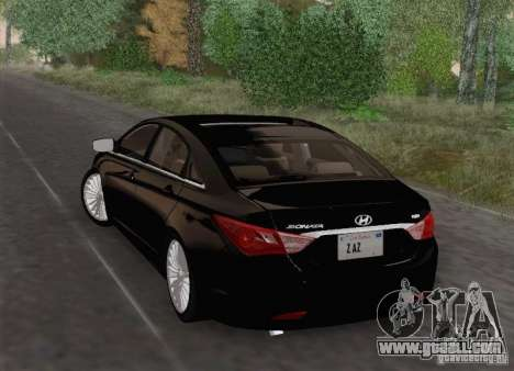 Hyundai Sonata 2012 for GTA San Andreas upper view