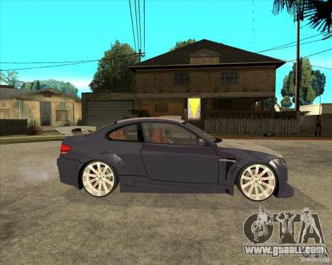 BMW M3 E92 TUNED for GTA San Andreas right view